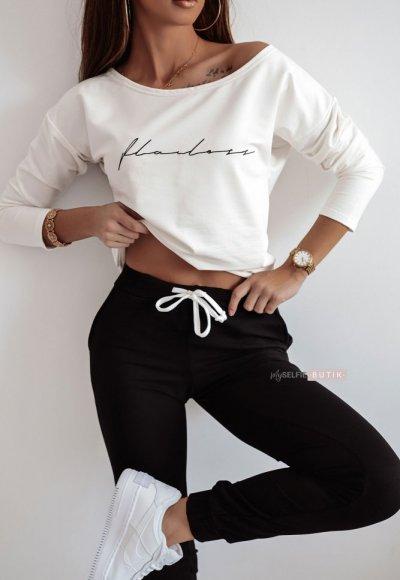 Biało-czarny komplet dresowy FLAWLESS