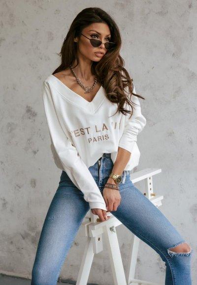 Śmietankowa bluza LA VIE