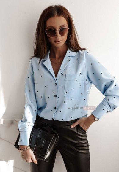 Koszula POLO BLUE dots
