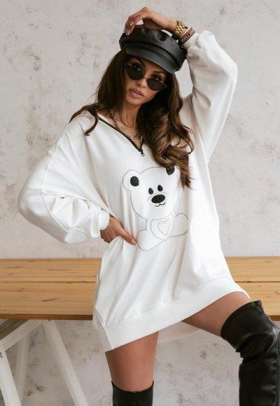 Biała bluza TEDDY