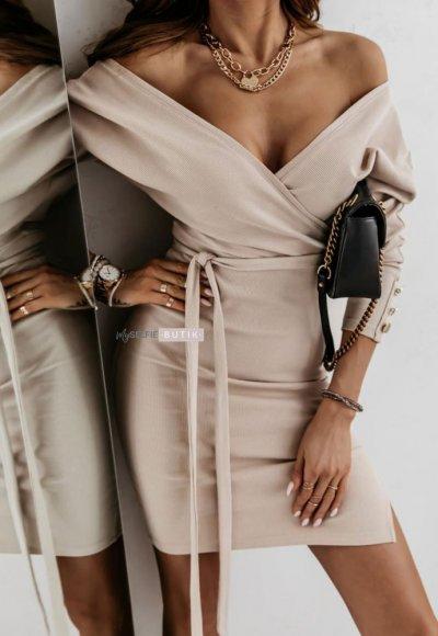 Sukienka ANETT beżowa