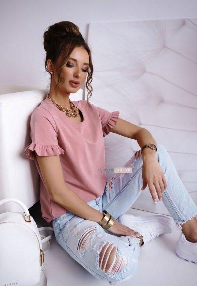 T-shirt FRILL różowy