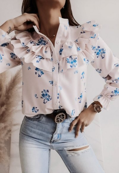 Koszula WEST flower blue