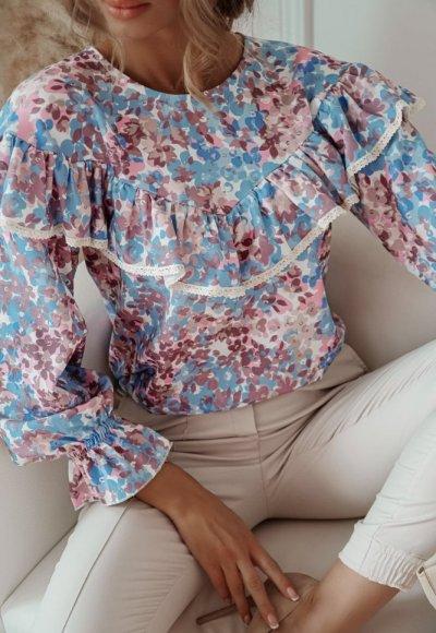 Bluzka MARGARET w drobne kwiatuszki