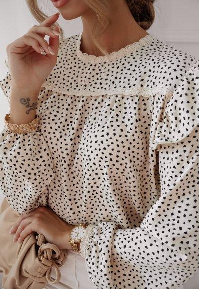 Bluzka ANN w drobne groszki