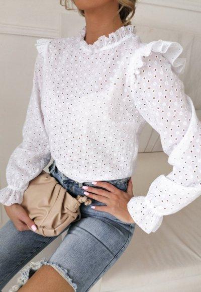Bluzka AMBER biała haftowana