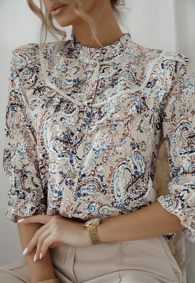 Koszula LAMBERT w azteckie wzory