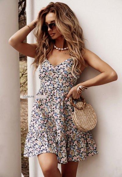 Sukienka DOREEN w drobne kwiatuszki