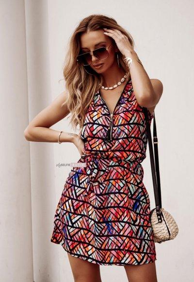 Sukienka AZETA w geometrczne wzory