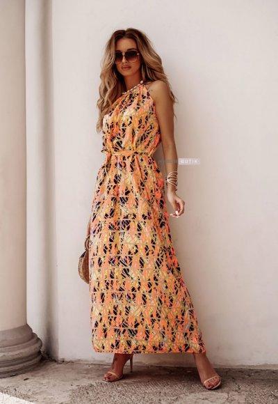 Sukienka REINA w geometrczne wzory