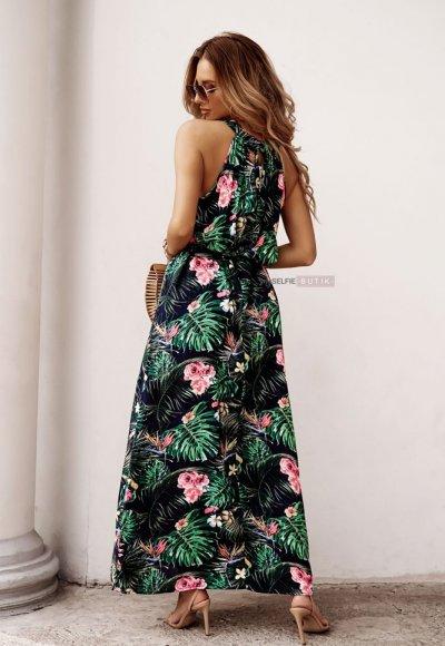 Sukienka REINA w różowe kwiaty