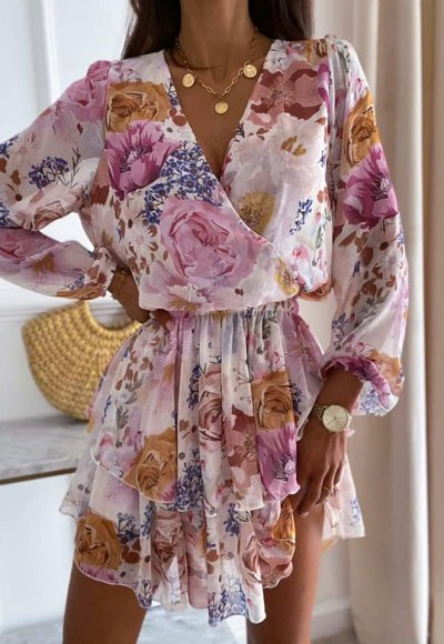 Sukienka VIOLETT w kwiaty