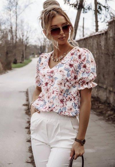 Bluzka ADELE w kwiatowy motyw