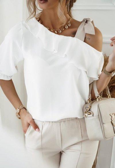 Bluzka SERENA z wiązaniem na ramieniu