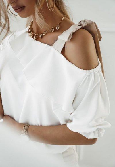 Bluzka SERENA z wiązaniem na ramieniu 1