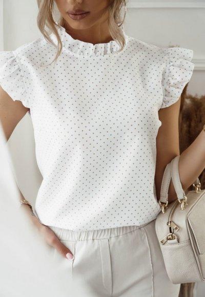Koszula LILU biała w kropeczki