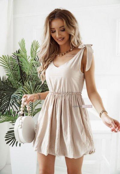 Sukienka NOCOLE beżowa