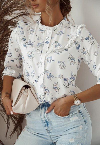 Koszula GAIA w kwiatuszkowy print