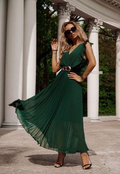 Sukienka BUTTERFLY zieleń butelkowa