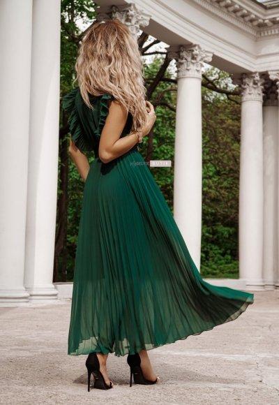 Sukienka BUTTERFLY zieleń butelkowa 1