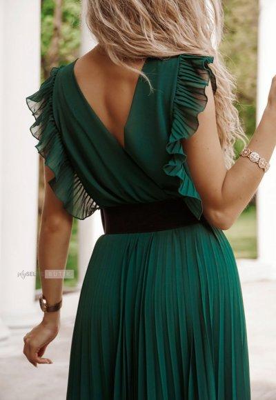 Sukienka BUTTERFLY zieleń butelkowa 2