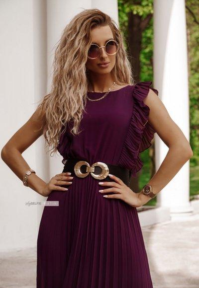 Sukienka BUTTERFLY ciemny fiolet