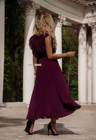 Sukienka BUTTERFLY ciemny fiolet 1
