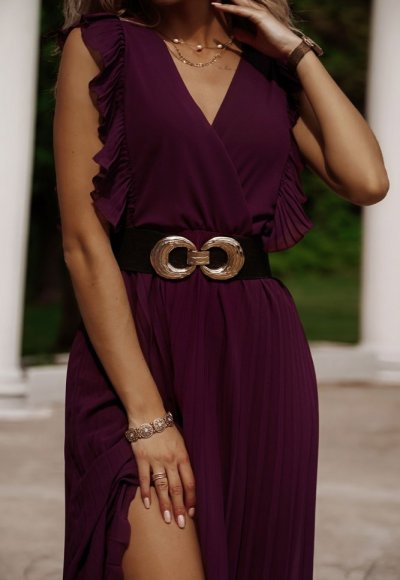 Sukienka BUTTERFLY ciemny fiolet 2