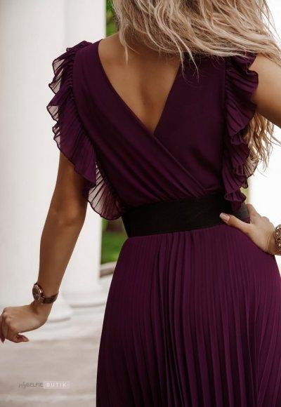 Sukienka BUTTERFLY ciemny fiolet 3