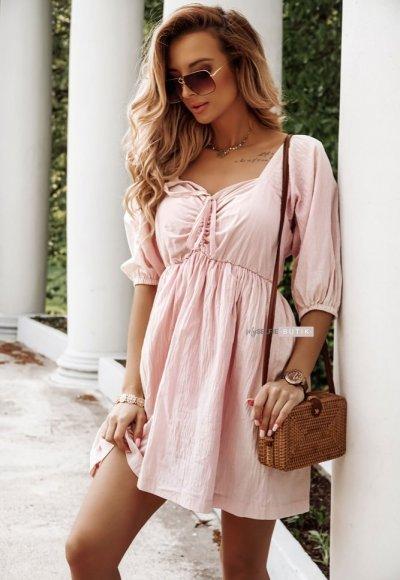 Sukienka LILY pudrowa