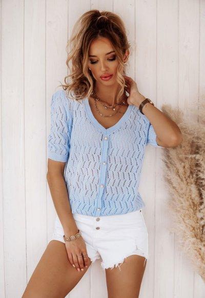 Sweter NONI niebieski