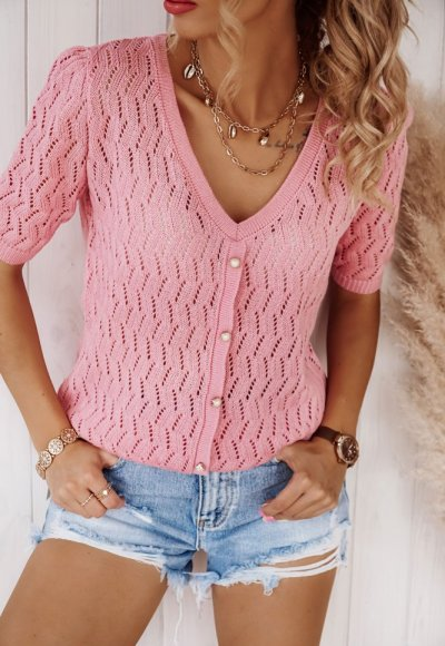 Sweter NONI różowy