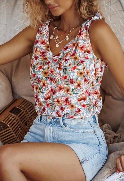 Bluzka LAURE w kolorowe kwiatki