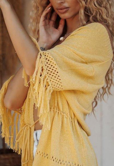 Narzutka plażowa INDIA yellow