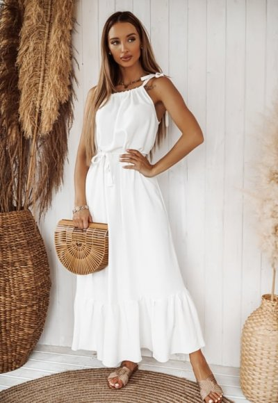 Sukienka SUMMER LONG biała