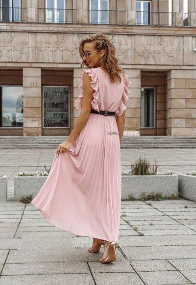 Sukienka BUTTERFLY różowa