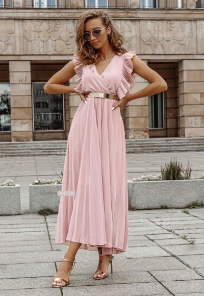 Sukienka BUTTERFLY różowa 1