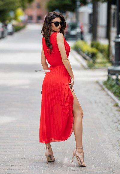 Sukienka MELODY czerwona 1
