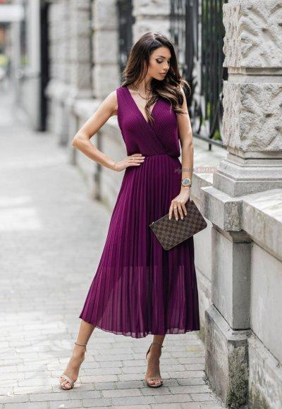 Sukienka MELODY fioletowa