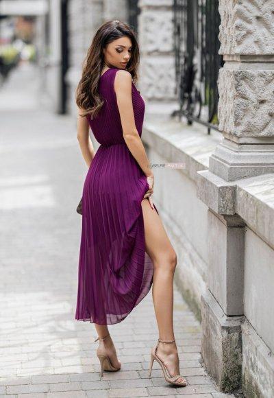 Sukienka MELODY fioletowa 1