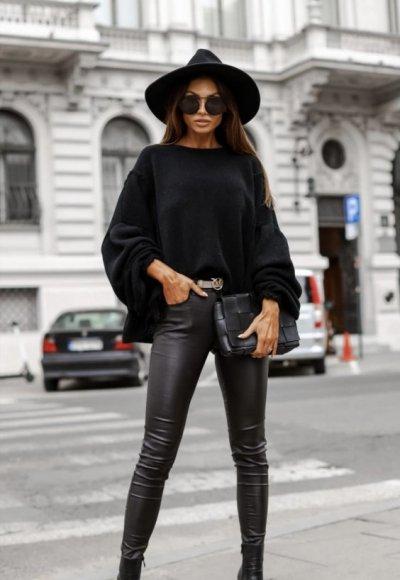 Spodnie ILLINOIS woskowane czarne 1