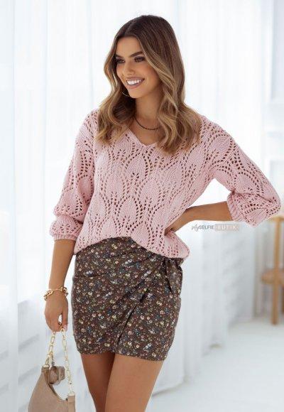 Sweter BOWIE różowy