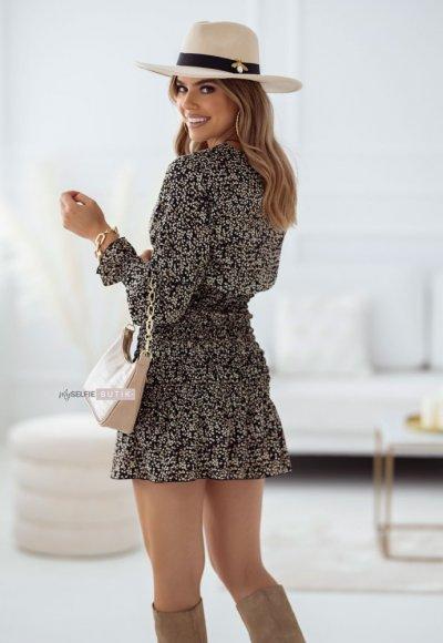 Sukienka ZOYA czarna w kwiatuszki 1