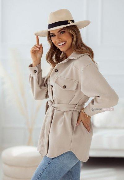 Płaszcz VALENCIA jasnobeżowa 1