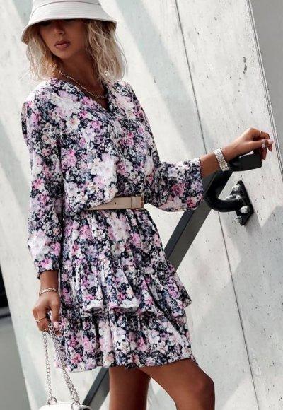 Sukienka MARSELA w kwiatowy print