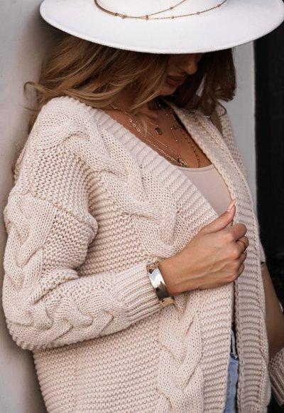 Sweter MIRO nude 1