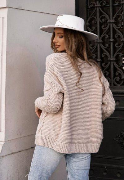 Sweter MIRO nude 2