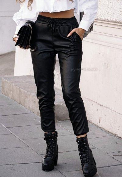 Czarne skórzane spodnie COUTURE 1