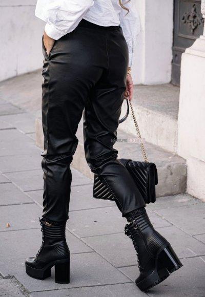Czarne skórzane spodnie COUTURE 2