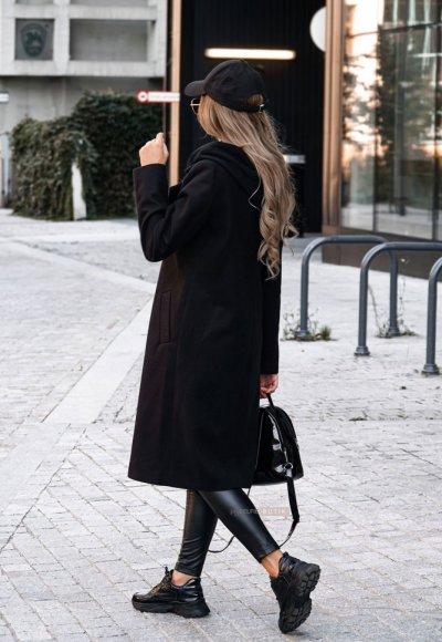 Płaszcz z kapturem NEW YORK czarny 2